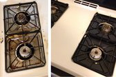 Before and after replacment drip pans were installed