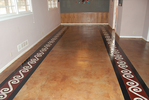 Painted concrete floors concrete floor ideas concrete Floor design