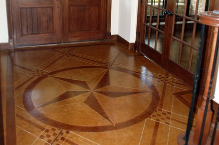 Concrete floors star design