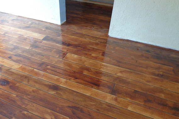 Fantastic concrete floor finishes for Faux wood flooring