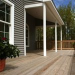 Hidden deck fasteners were used for this residential deck