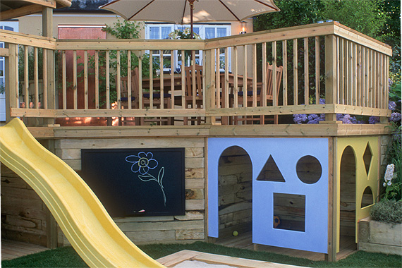 Backyard Deck with Built-In Play Area | Pictures of Decks