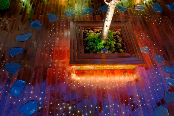 Fiber Optic Lights Built In to a Deck | Pictures of Decks