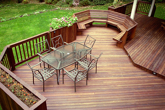 Planters Built In to a Home Deck | Pictures of Decks