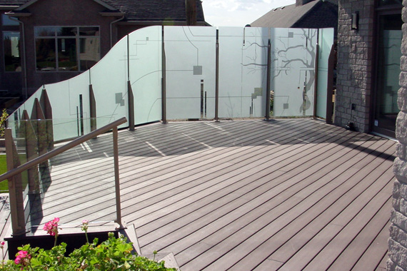 Frosted Glass Privacy Wall | Pictures of Decks