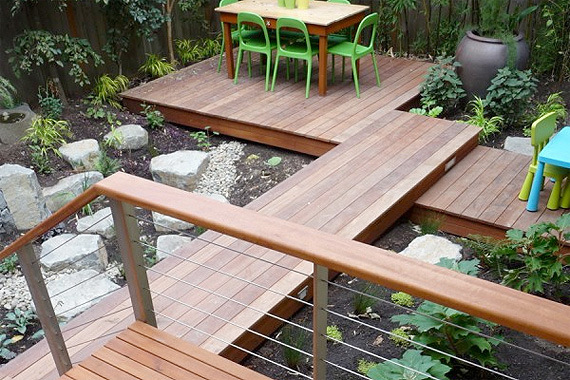 Tigerwood Deck in a Backyard | Pictures of Decks