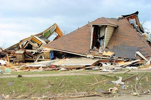 House destroyed by storm