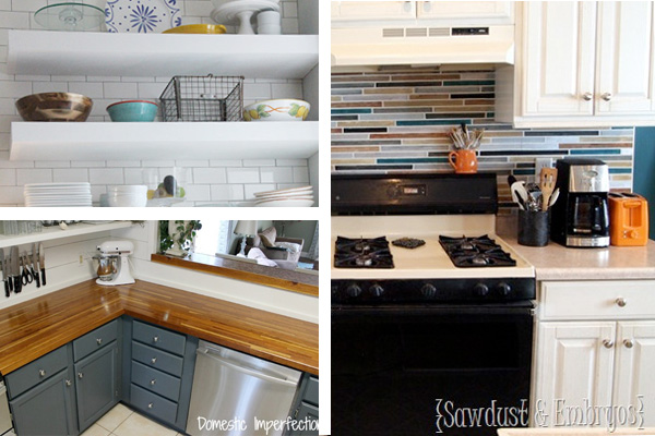 Diy kitchen decorating ideas budget backsplash you can for Simple diy kitchen ideas
