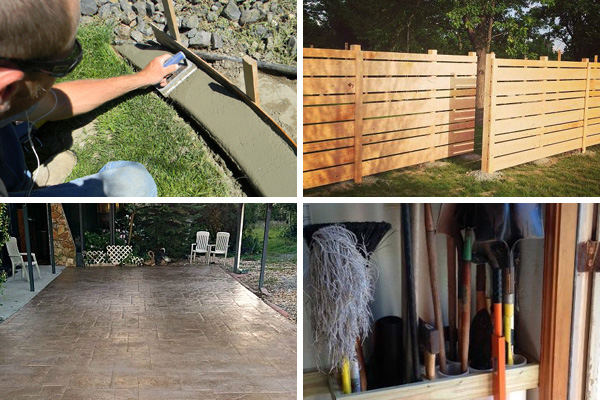 Diy outdoor projects on a budget cheap landscaping ideas for Garden outlay ideas