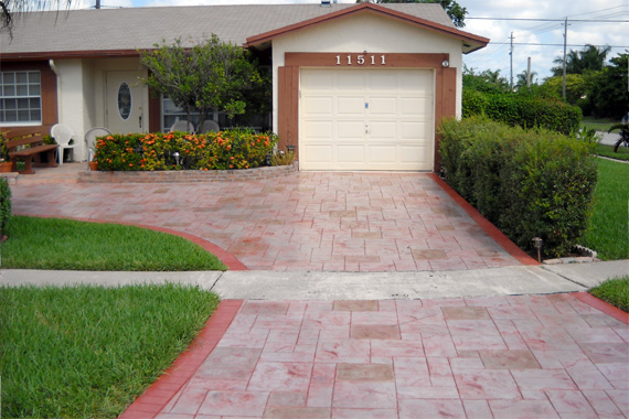 concrete driveway designs additionally small front garden design ideas - Concrete Driveway Design Ideas