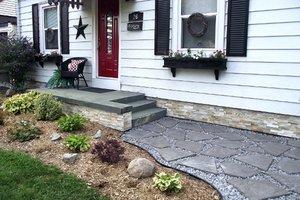 Flagstone path at a house