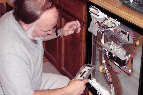 Fixing a broken dishwasher