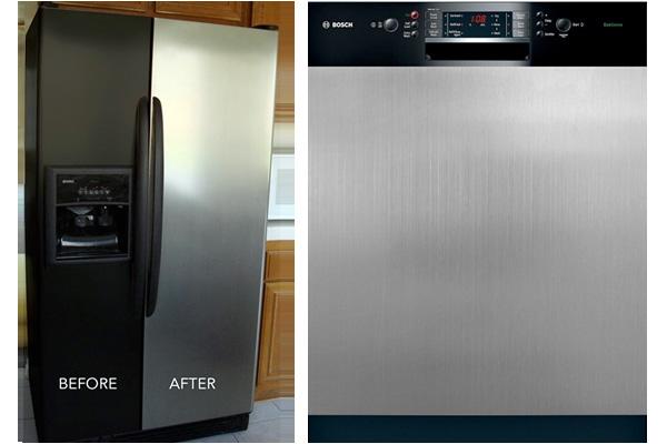 Appliance Art's faux stainless steel appliance film