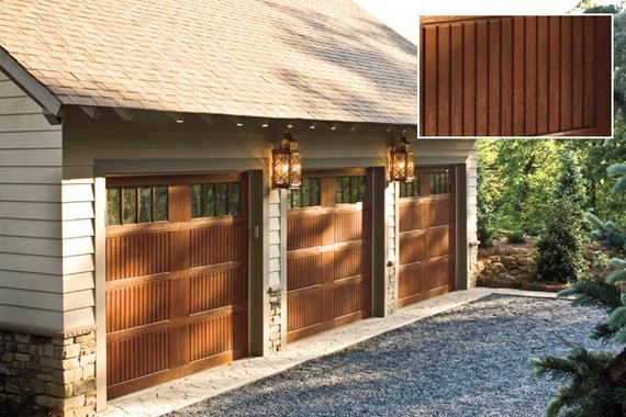 Faux wood fake wood flooring faux wood siding Garage door faux wood
