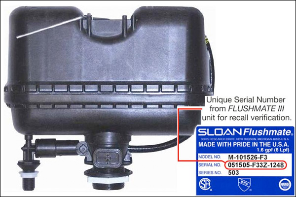 Flushmate toilet system recalled