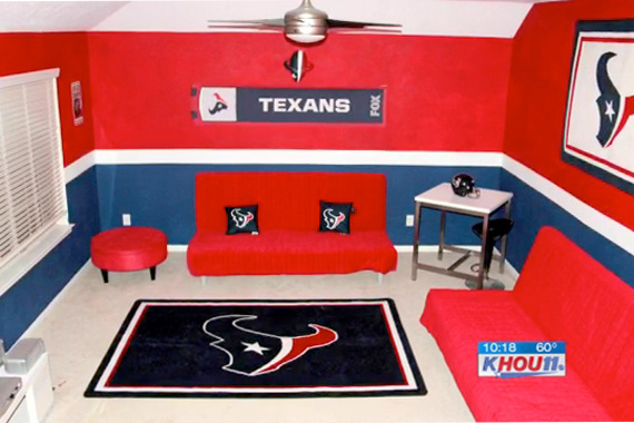 Football rooms decorating ideas sports decor