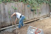 Digging a French drain