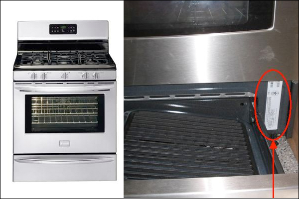 Recalled Frigidaire gas range