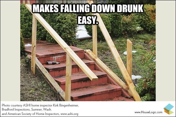 Funny fail meme stair banister