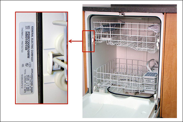 Recalled dishwasher by GE