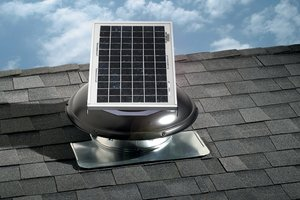 A solar-powered attic fan