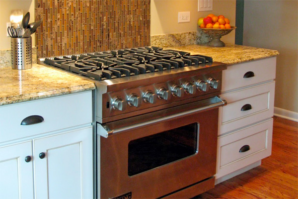 Luxury Six Burner Stove In A Home Kitchen