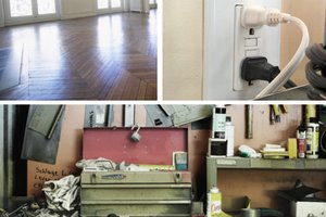 Winter home repair jobs including a GFCI and wood flooring