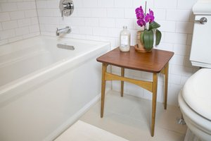 Orchid in a bathroom staged for sale
