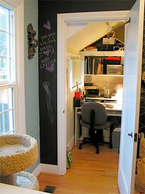 Closet Converted to Home Office | Home Storage Solutions
