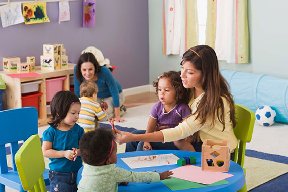 Kids and Teacher at a Home Daycare | Home Office Deductions