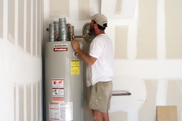 Hot water heater appliance installation