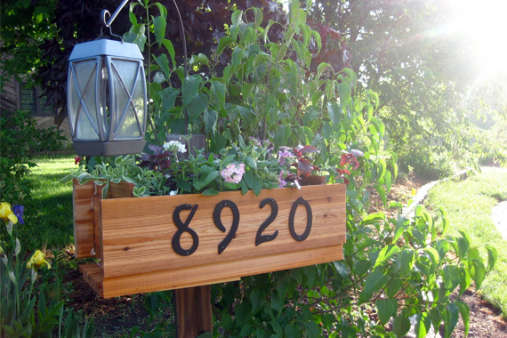 Flower Box with House Numbers | House Numbers