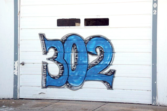 Graffiti Artist's Sprayed-On House Number | House Numbers