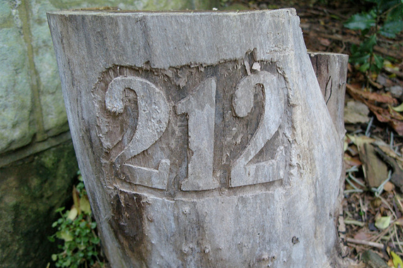 House Numbers Carved into a Tree Stump | House Numbers
