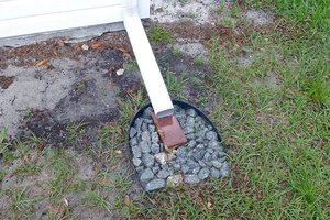 Proper downspout drainage for a house