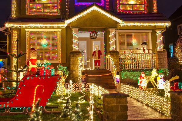 Christmas display outside home
