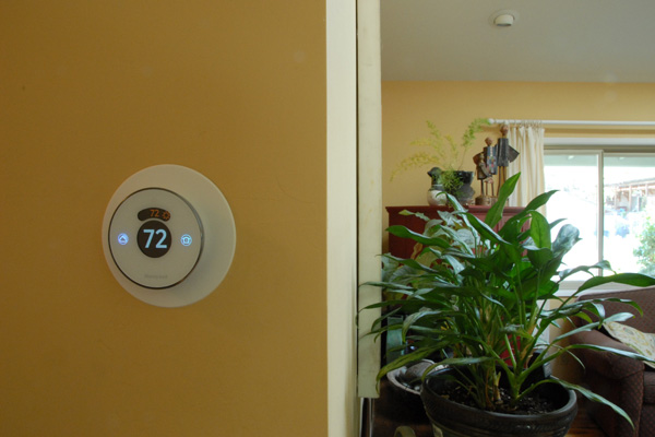 Completed DIY thermostat installation