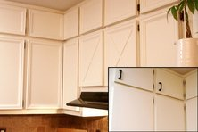 Before and after a kitchen cabinet upgrade