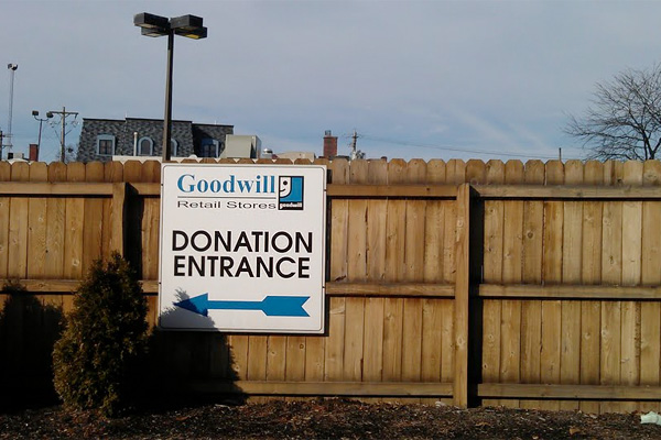 Goodwill donation drop-off
