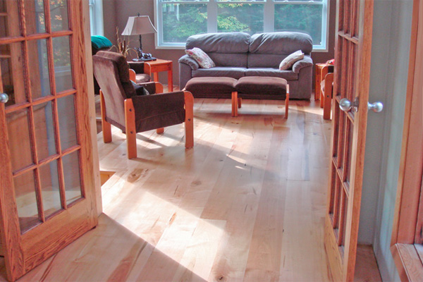 Red maple flooring