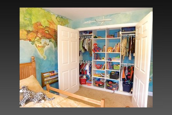 Space saving solutions for kids 39 rooms off the grid news for Kids room closet ideas