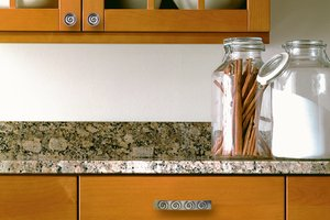 Updated kitchen cabinet hardware