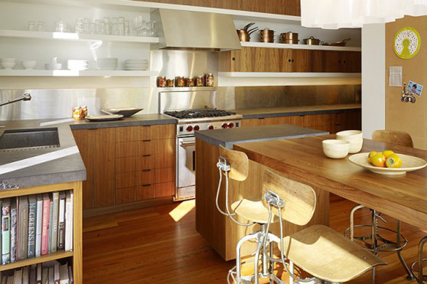 Walnut kitchen cabinetry