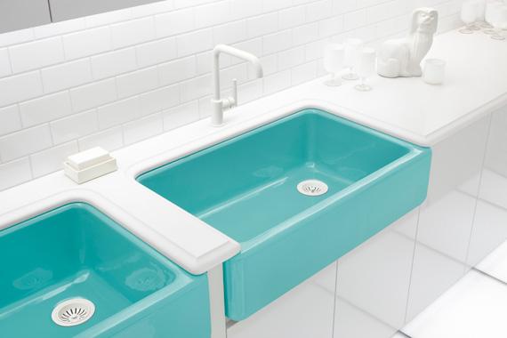 Kitchen sink pictures types of kitchen sinks kitchen for Coloured kitchen sinks