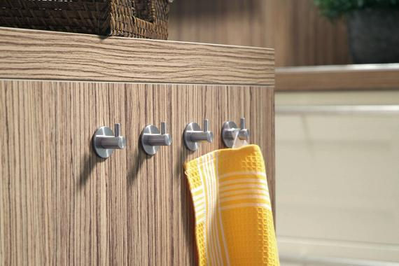 Low-Cost Metal Hooks Add Storage   Kitchen Renovation