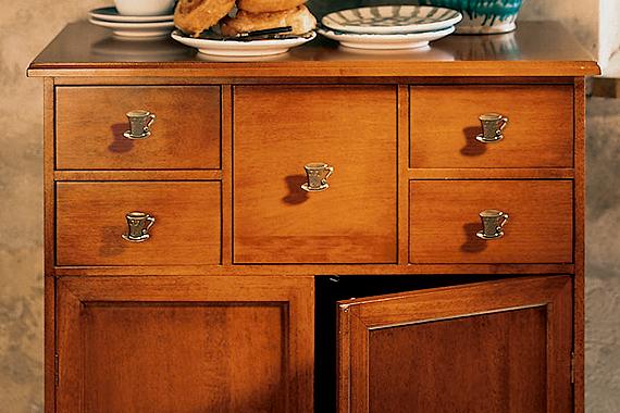 Teacup-Shaped Drawer Pulls | Kitchen Renovation