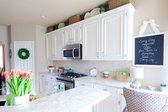The completed white kitchen makeover