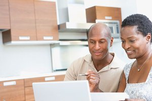 Couple researching mortgage rates