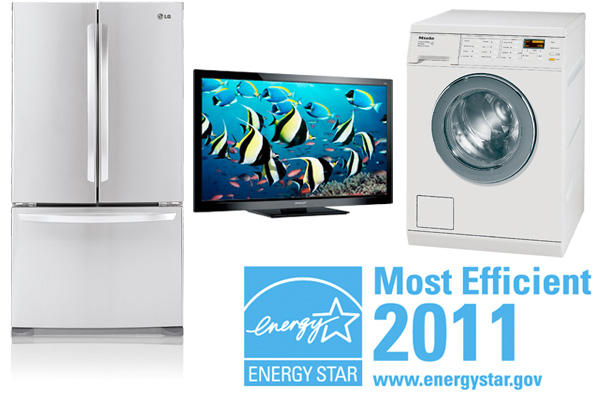 Three products rated Most Efficient by Energy Star