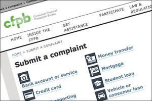 Screenshot of Consumer Financial Protection Bureau website